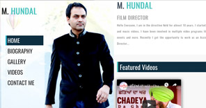 <span>M Hundal - Film Director</span><i>→</i>